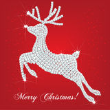 Christmas deer made of diamonds Stock Image