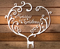 Christmas deer with Merry Christmas text Royalty Free Stock Photos