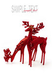 Christmas deer ornaments Stock Images