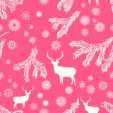Christmas deer, seamless illustration. EPS 8 Royalty Free Stock Photo