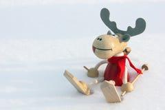 Christmas deer in snow Stock Image
