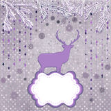 Christmas deer and snowflake. EPS 8 Royalty Free Stock Photos