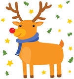 Christmas Deer Standing Royalty Free Stock Photos