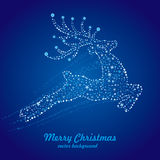 christmas deer and star Royalty Free Stock Image