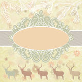Christmas deer tempate card. EPS 8 Royalty Free Stock Images