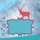Christmas deer tempate card. EPS 8 Stock Images