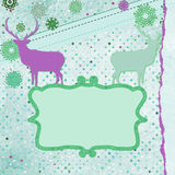 Christmas deer tempate card. EPS 8 Stock Photography