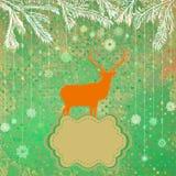 Christmas deer tempate card. EPS 8 Royalty Free Stock Images