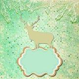 Christmas deer tempate card. EPS 8 Stock Photos