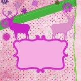 Christmas deer tempate card. EPS 8 Royalty Free Stock Photography