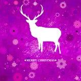 Christmas deer tempate card. EPS 8 Royalty Free Stock Photos