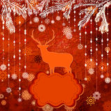 Christmas deer tempate card. EPS 8 Stock Image
