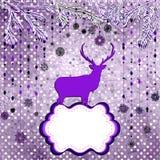 Christmas deer tempate card. EPS 8 Stock Photo
