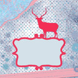 Christmas deer template card. EPS 8 Stock Images