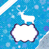 Christmas deer template card. EPS 8 Royalty Free Stock Images