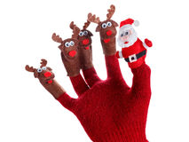 Christmas deer toy decoration. Humorous concept Stock Images