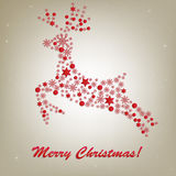 Christmas Deer. Vector Stock Photo