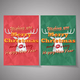 Christmas deer vector background Royalty Free Stock Photography