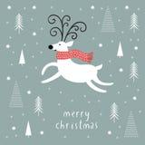 Christmas deer, vector illustration Stock Image