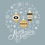Christmas deer, vector illustration Stock Photo