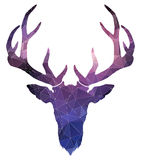 Christmas deer. watercolor silhouette. vector illustration Royalty Free Stock Photography