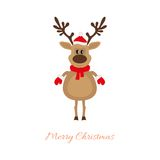 Christmas deer on a white background Royalty Free Stock Images