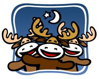 Christmas deers Stock Images