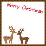 Christmas Deers Card. Christmas card that design with two deers Stock Images
