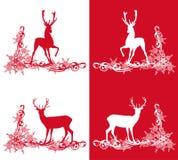 Christmas deers set Stock Photo