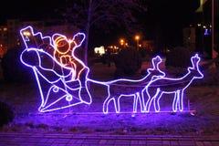 Christmas deers Stock Photos