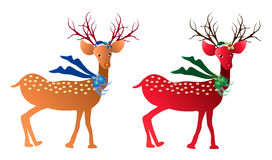 Christmas deers Stock Photos