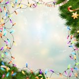 Christmas defocused light. EPS 10 Royalty Free Stock Image
