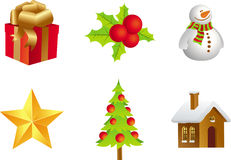 Christmas Delights. Cute 3D illustrations of iconic Christmas symbols Stock Photos
