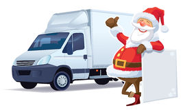 Christmas delivery Stock Images