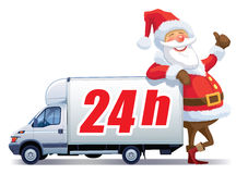 Christmas delivery royalty free illustration