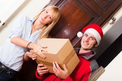 Christmas Delivery Boy Royalty Free Stock Images