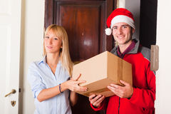 Christmas Delivery Boy Royalty Free Stock Image