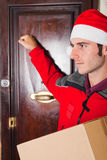 Christmas Delivery Boy Stock Photos