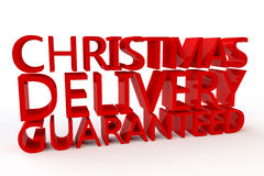 Christmas Delivery Guaranteed Stock Image