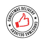 Christmas Delivery rubber stamp Stock Photos