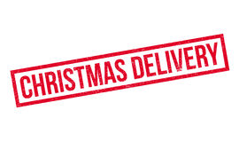 Christmas Delivery rubber stamp Stock Images