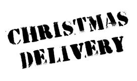 Christmas Delivery rubber stamp Royalty Free Stock Photos