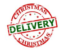Christmas delivery. Rubber stamp with text Christmas delivery inside,  illustration Royalty Free Stock Photography
