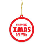 Christmas delivery tag label Stock Photos