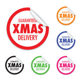 Christmas delivery tag label set Stock Photo