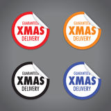 Christmas delivery tag label Stock Image