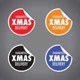 Christmas delivery tag label set Royalty Free Stock Photo