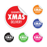 Christmas delivery tag label set Royalty Free Stock Image