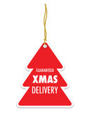 Christmas delivery tag label Stock Photography