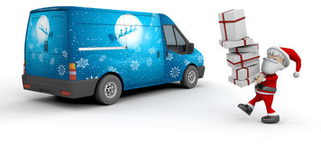 Christmas delivery van Royalty Free Stock Photo